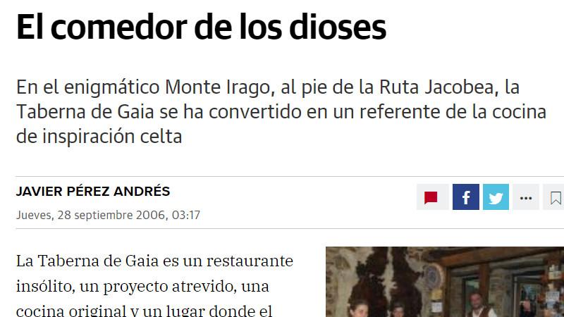 Javier Peréz Andrés artículo