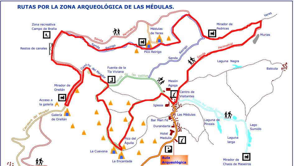 Mapa ruta circulas Las Médulas