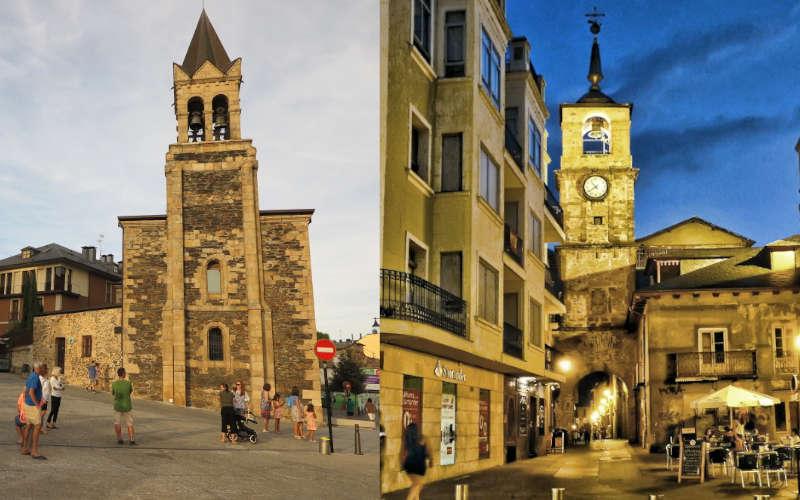 Iglesia de San Andrés y la Torre del Reloj
