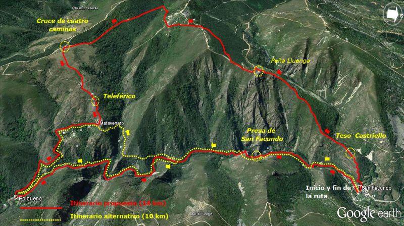 Mapa Ruta San Facundo-Matavenero-Poibueno