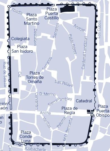 Plano Muralla de León