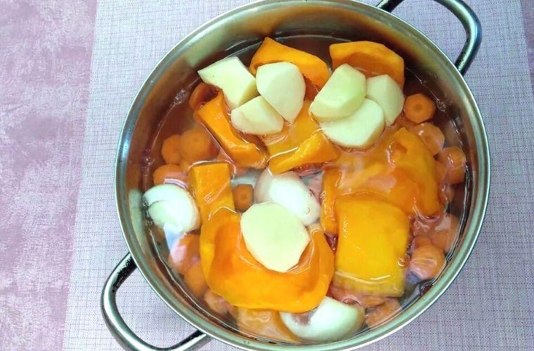 Crema de Calabaza y Zanahoria, Receta, Paso 3