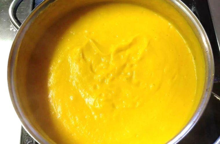 Crema de Calabaza y Zanahoria, Receta, Paso 9
