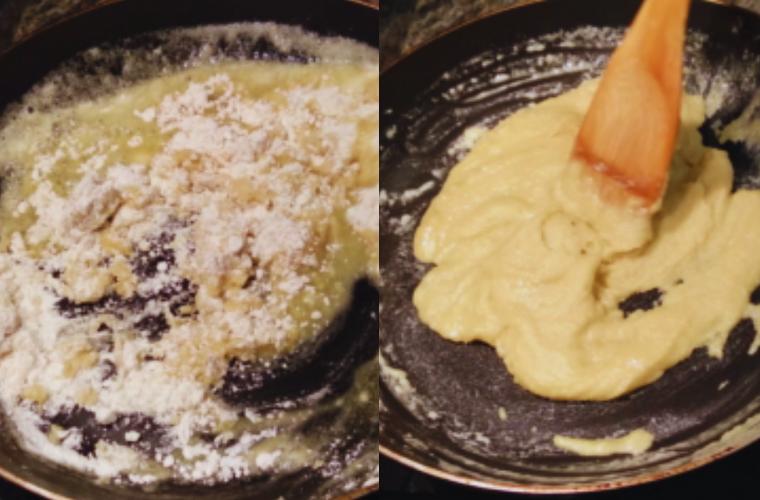 Receta Croquetas de Cocido, cocinar la harina