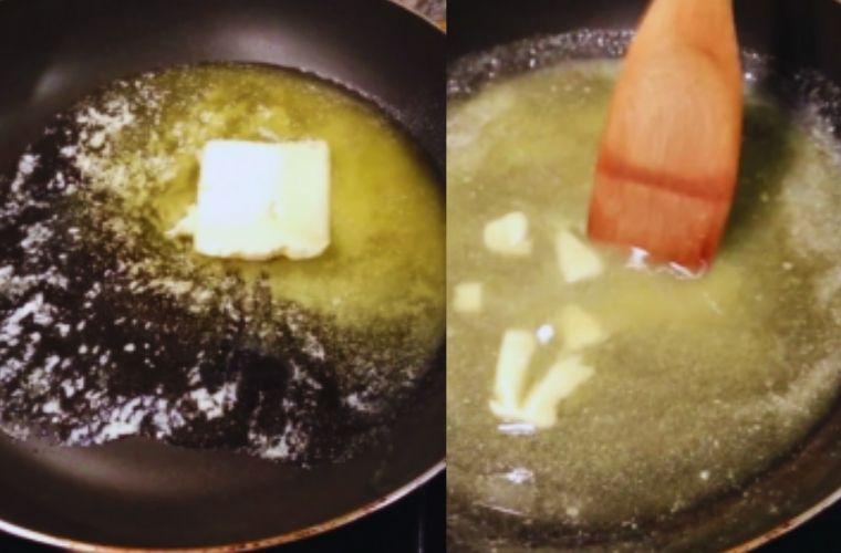 Receta Croquetas de Cocido, disolver mantequilla