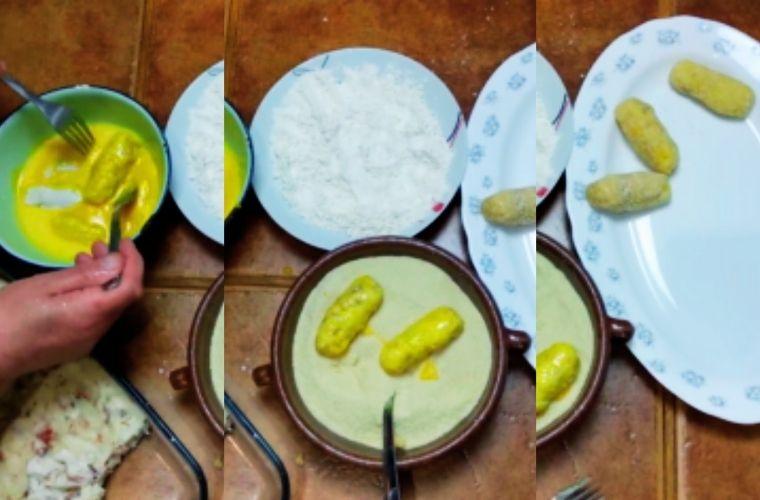 Receta Croquetas de Cocido, empanado